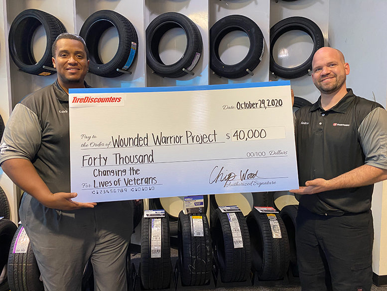 Tire Discounters and Wounded Warriors Project