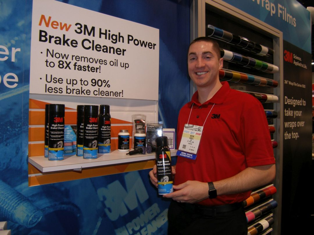 3M Auto Designs Brake Cleaner to Work Faster