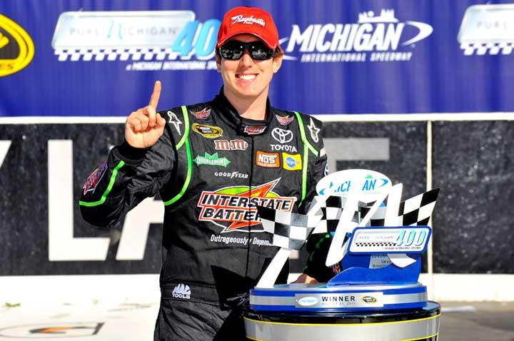 4th win clinches spot in the chase for Kyle Busch