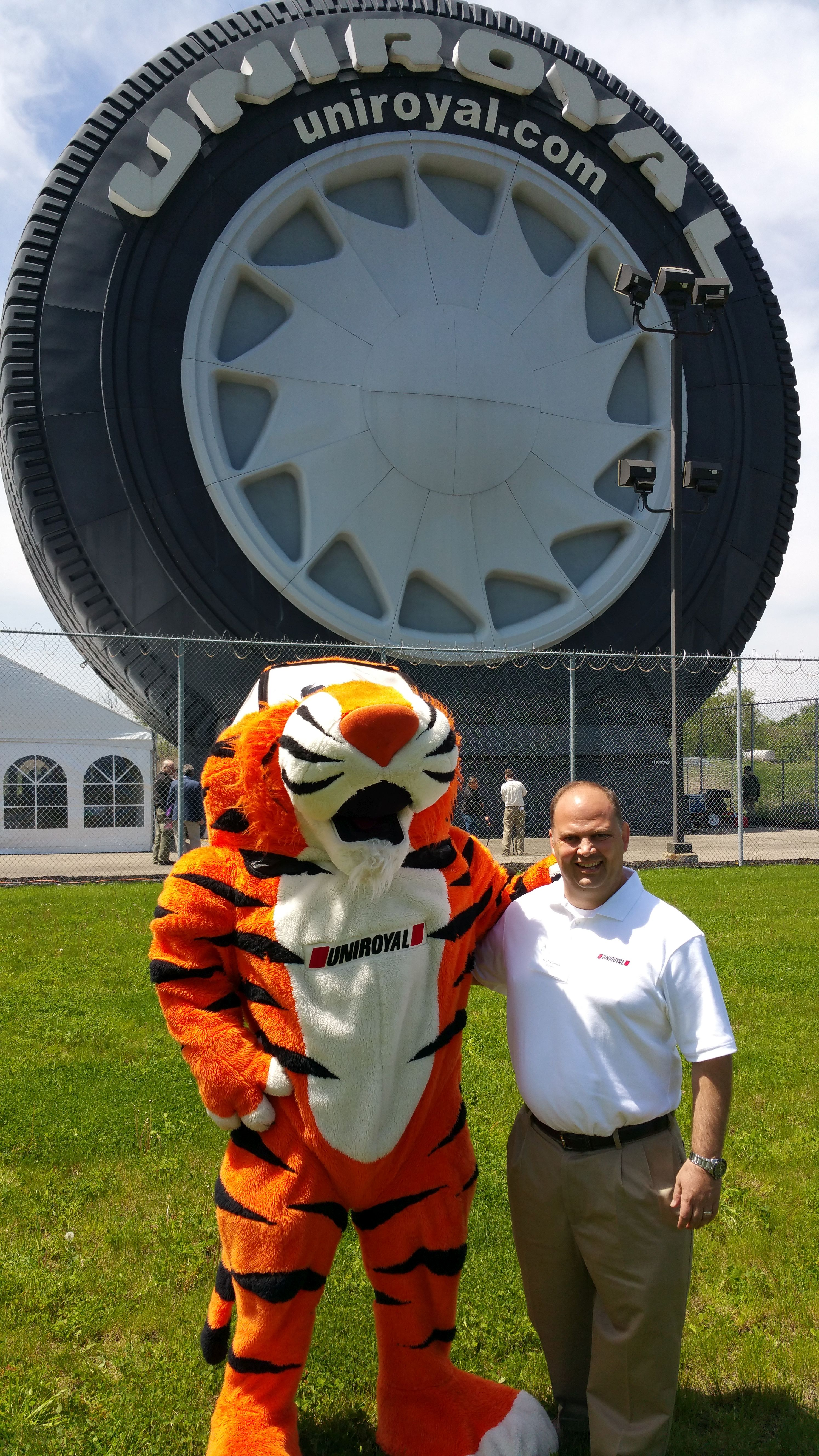 A landmark tire: The Uniroyal giant tire is 50
