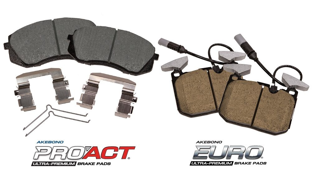 Akebono Adds 4 Ultra-Premium Disc Brake Pad Kits