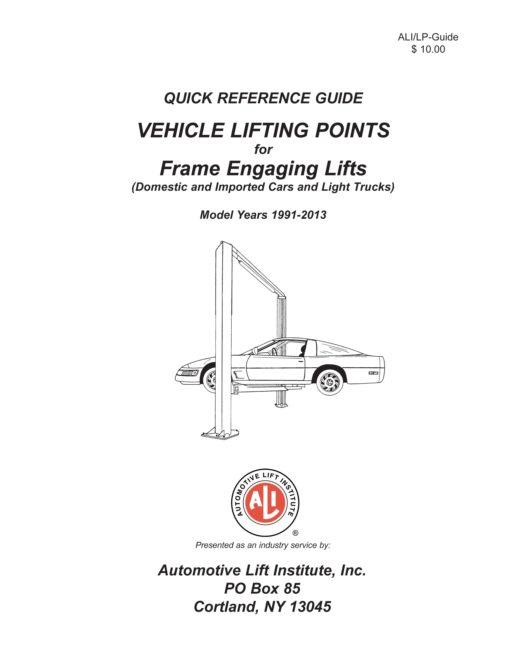 ALI releases new Vehicle Lifting Points guide