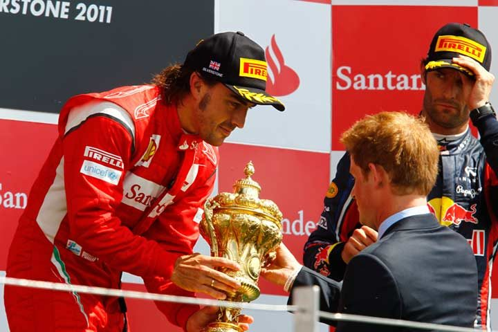 Alonso claims first win on Pirelli tires at Silverstone