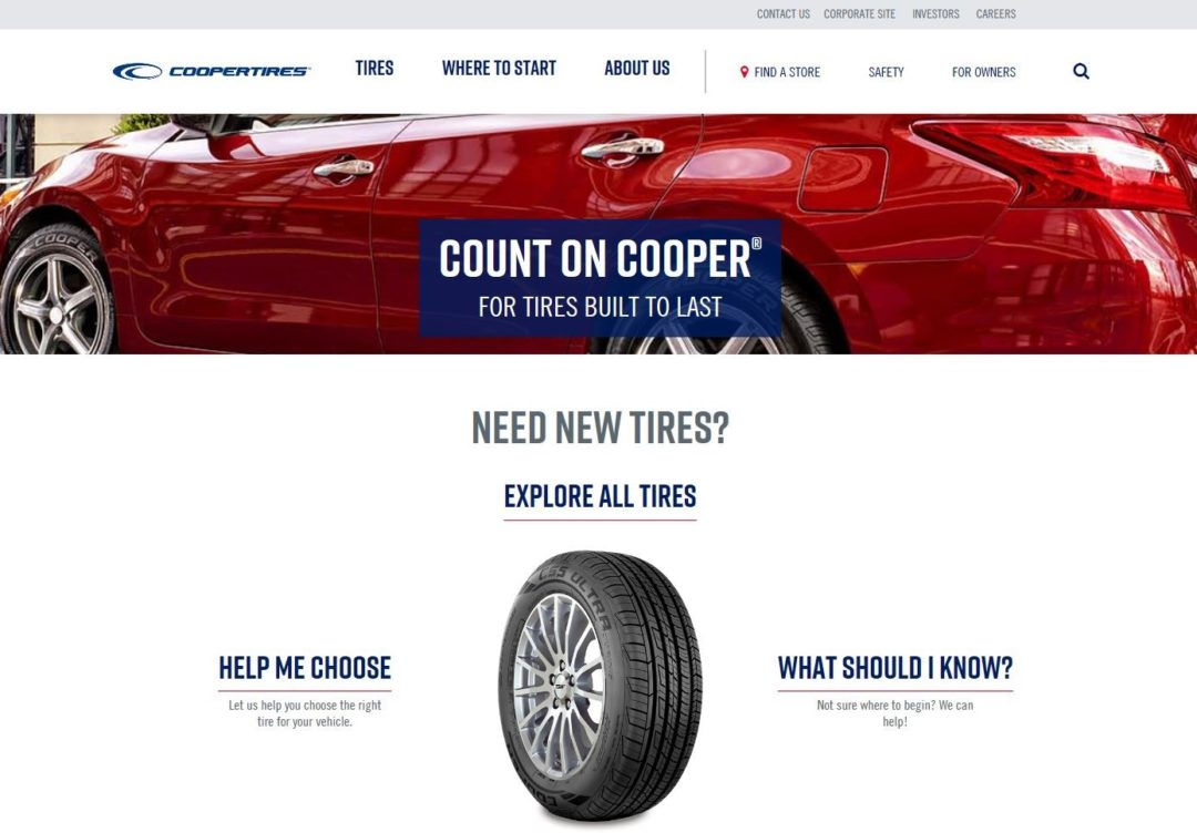 And the Winner of the Best Manufacturing Website Is... Coopertire.com