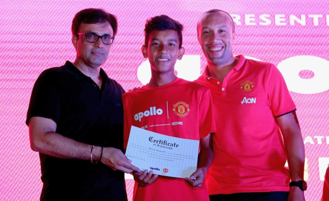 Apollo and Manchester United give back
