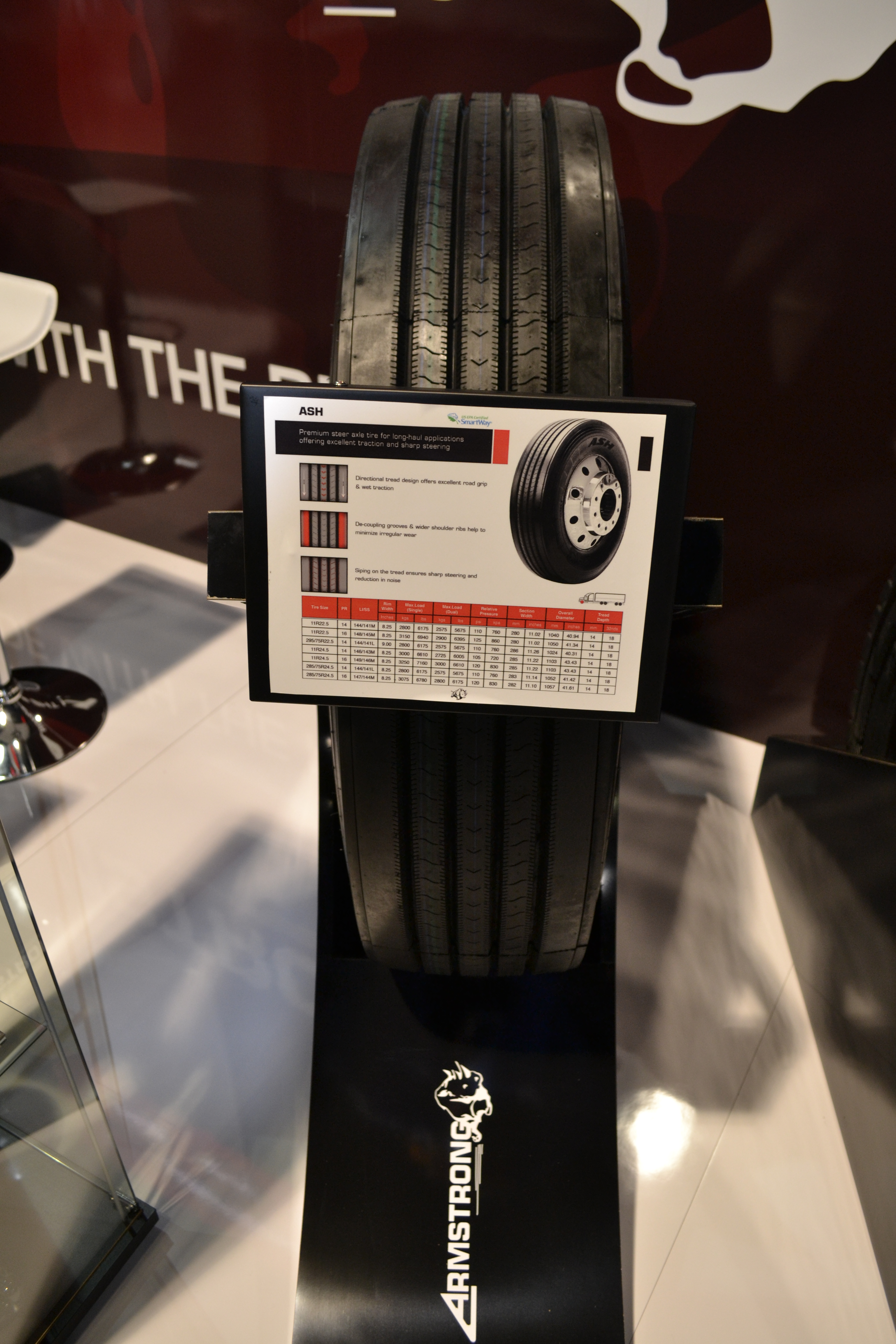 Armstrong Displays SmartWay-Verified Truck Tires at SEMA Show