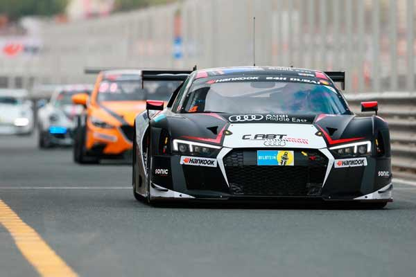 Audi locks out front row at the Hankook 24H Dubai