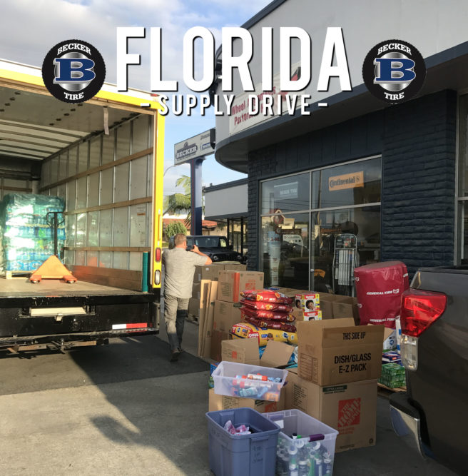 Becker Tire Hits the Road With Supplies for Hurricane Victims