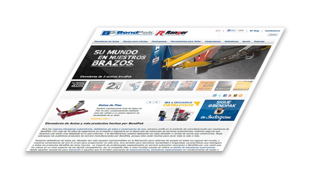 BendPak launches Spanish website