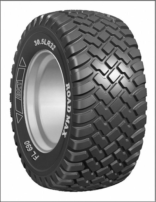 BKT adds new size to FL-690 radial flotation tire