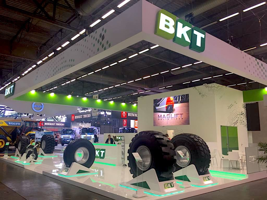 BKT Showcases Tire Portfolio at Intermat 2018