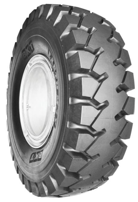 BKT shows 3 new Earthmax tires at Intermat