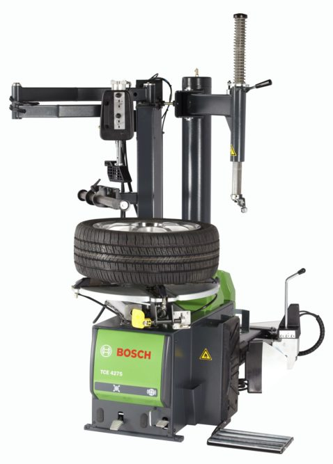 Bosch Adds Swing Arm Air Motor Turntable Tire Changer
