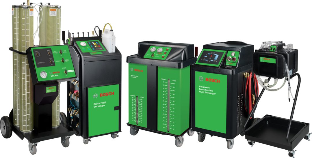 Bosch introduces line of fluid exchange products