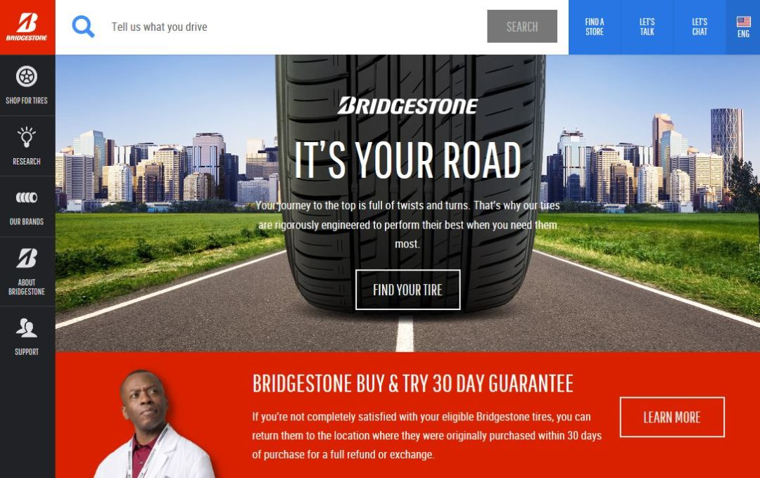Bridgestone launches consumer tire website