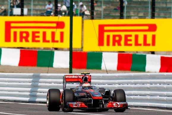 Button leads both practice sessions at Suzuka