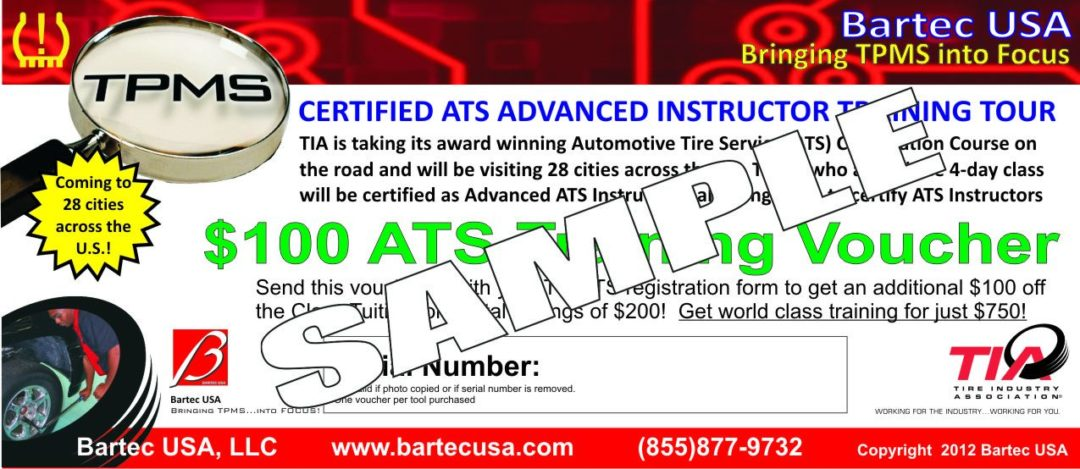 Buy a Bartec TPMS tool, get a TIA tuition voucher