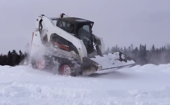 Camso's Tracks Help Keep Skid Steers Moving in Winter Conditions