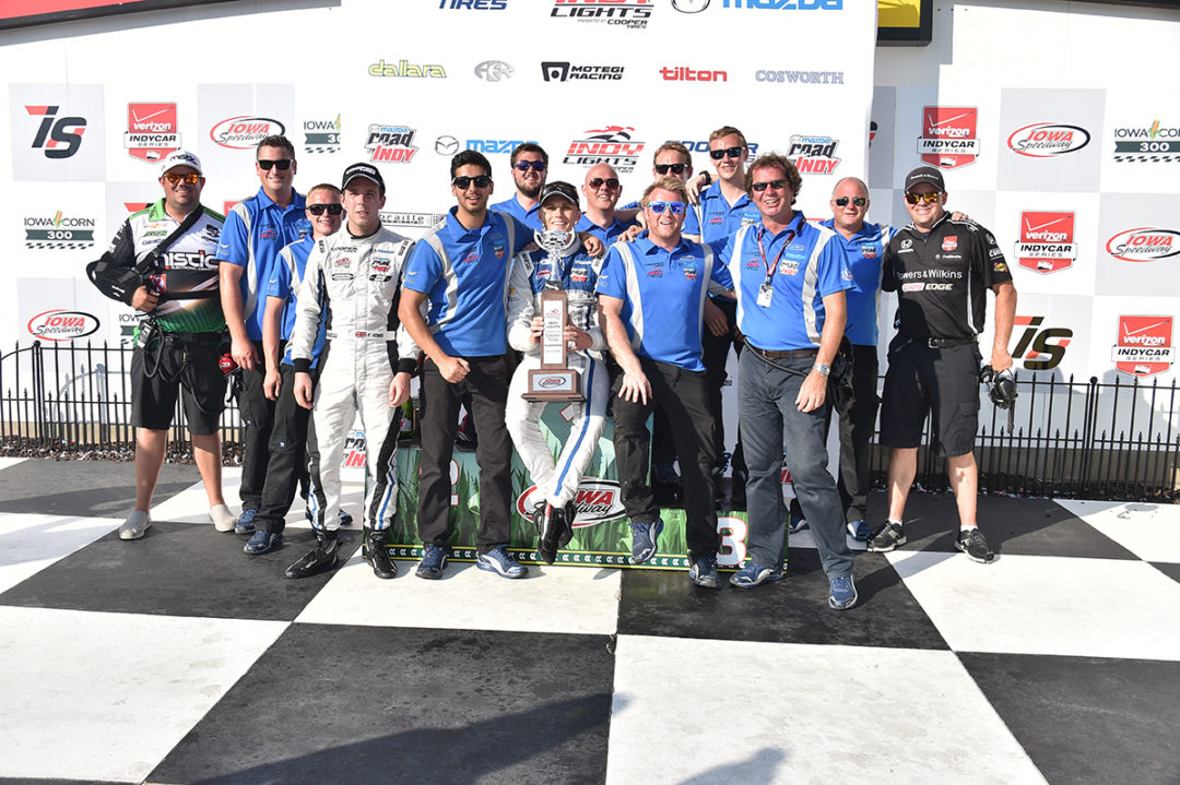 Chilton charges to maiden Indy Lights win on the Iowa oval