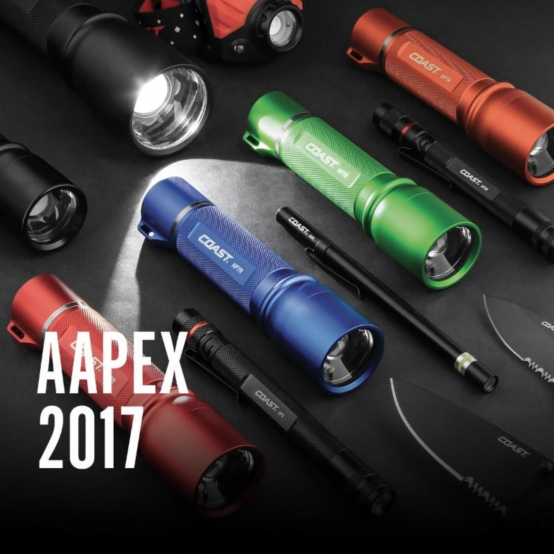 Coast Lights Up AAPEX Booth With Rechargeable Flashlight