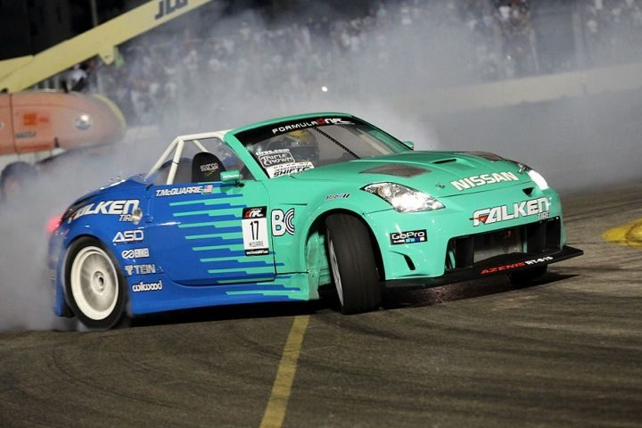 Competitive gamble doesn't pay off for Falken drift team