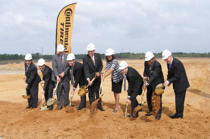 Continental breaks ground for new U.S. tire plant