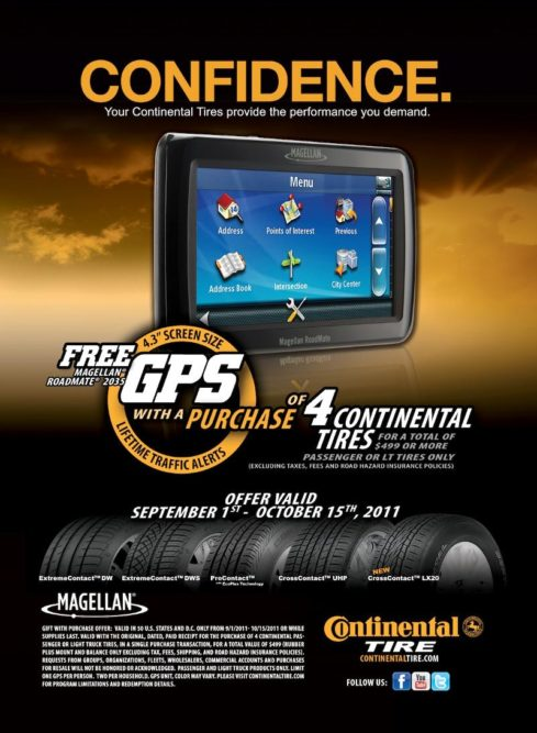 Continental launches free GPS promotion