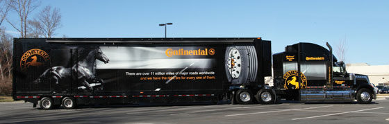 Continental revamps mobile tire exhibit