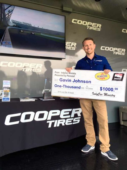 Cooper Employee Honored With Lone Star Jr Johnny Rutherford Award