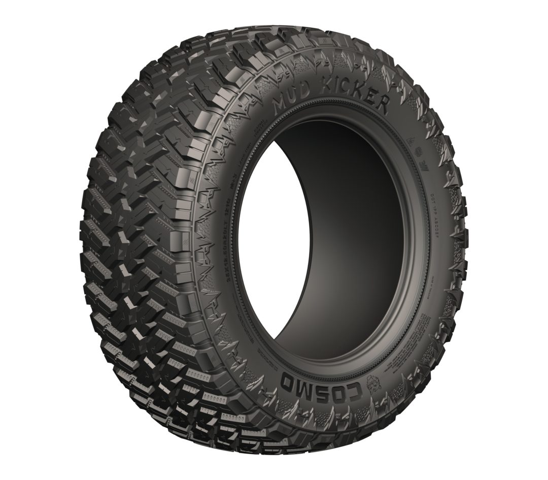 Cosmo Goes Off Road With Mud Kicker Tire