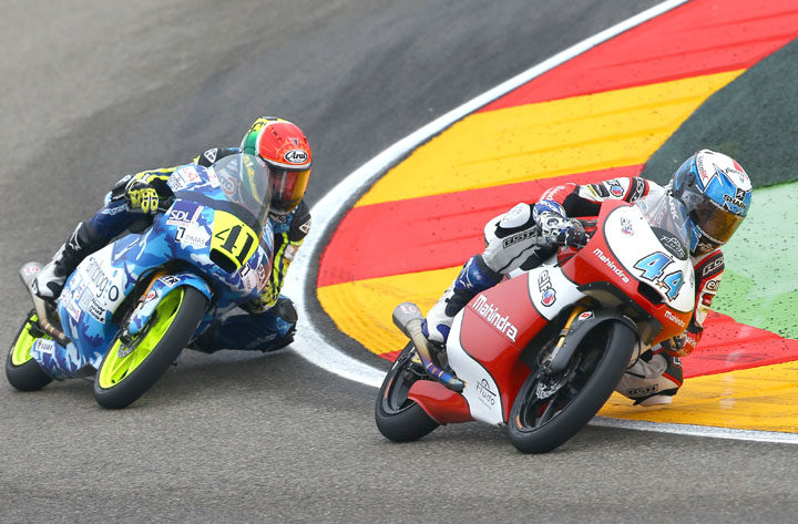Double top ten for Mahindra in thrilling Aragon GP