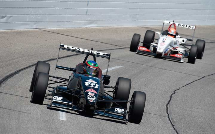 Eidson wins Indy USF2000 on the LOR Oval