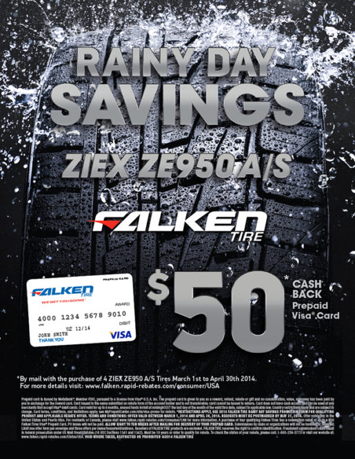 Falken offers consumer rebate for Ziex ZE950