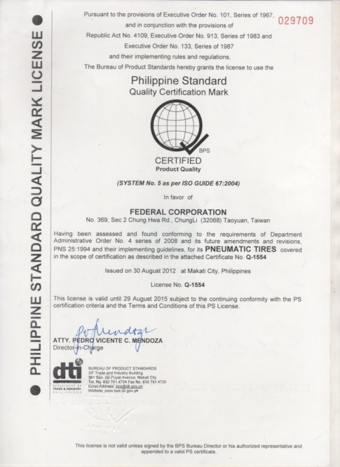 Federal gets its license in the Philippines