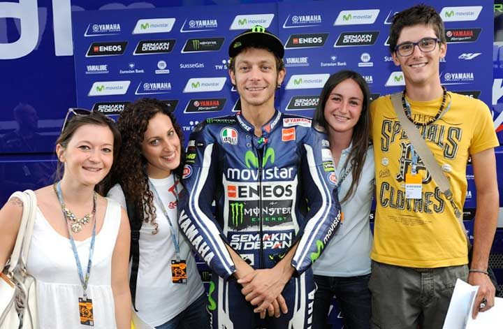 Final Club46 winners celebrate with Valentino Rossi at Misano