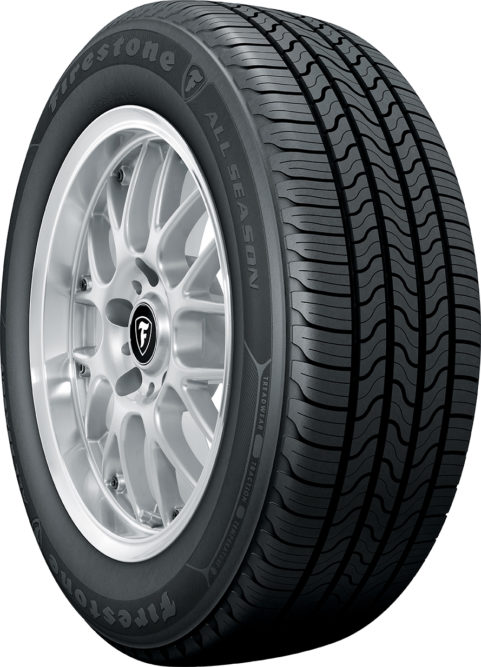 Firestone All Season Fits Cars, Minivans and CUVs