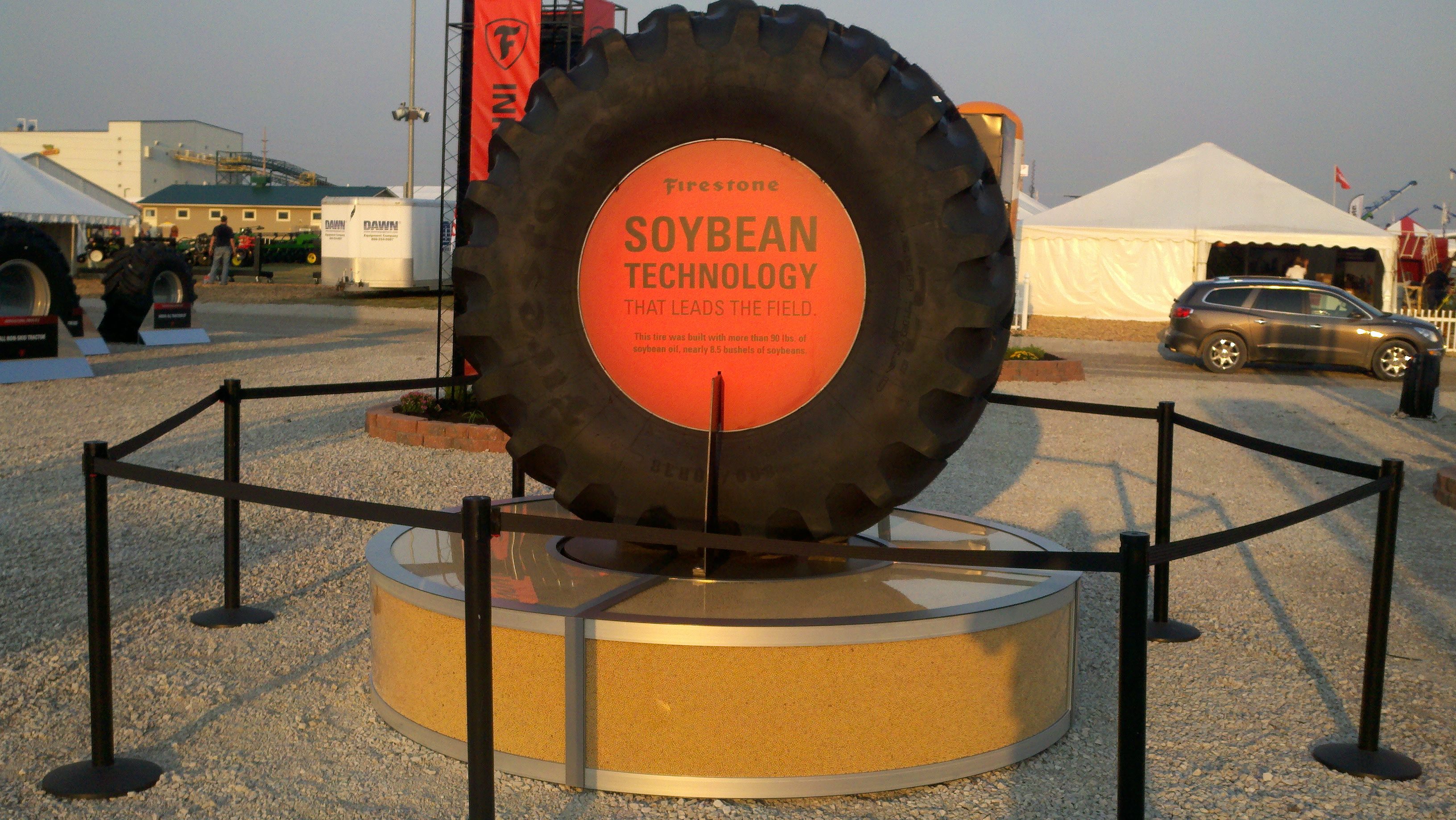 Firestone Farm Tire Has 10% Soybean Oil