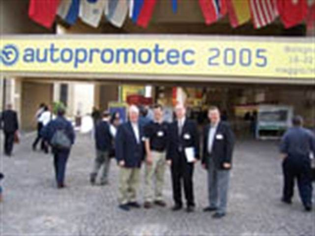 First-person plural: Publisher Greg Smith and a group of U.S. tire dealers explored Autopromotec 2005 in Bologna, Italy