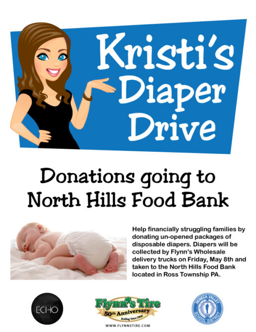 Flynn's Tire is sponsoring a diaper drive