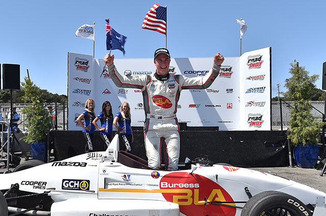 Franzoni Is Victorious As Martin Clinches USF2000 Title At Mazda Raceway