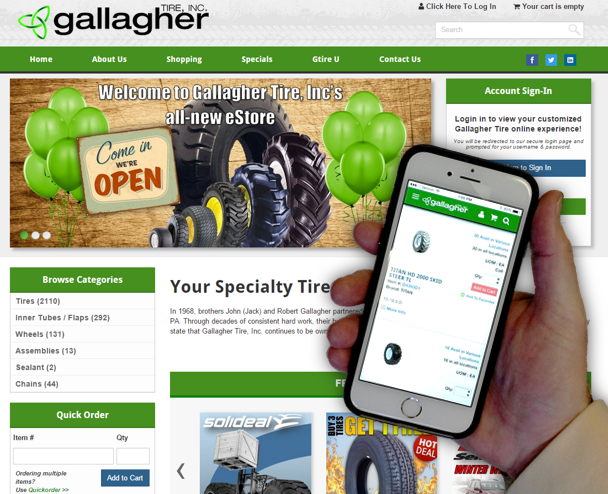 Gallagher Tire revamps website and eStore