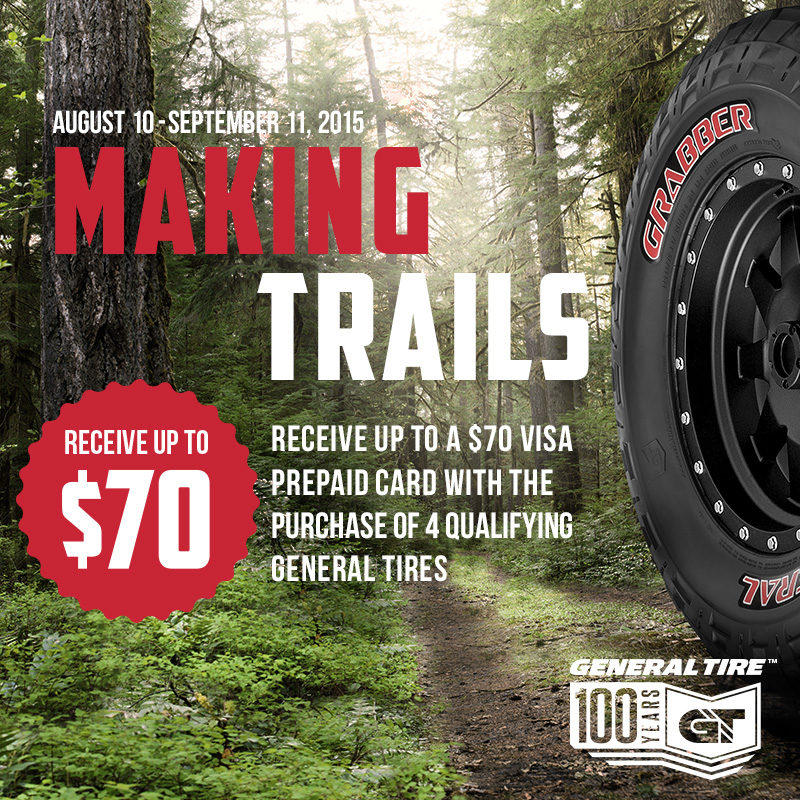 General brand offers 'Making Trails' rebate