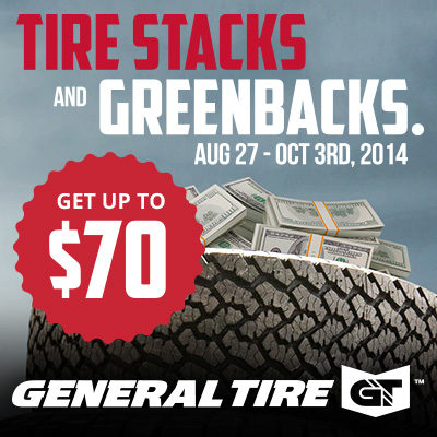 General tire promotion gives green back
