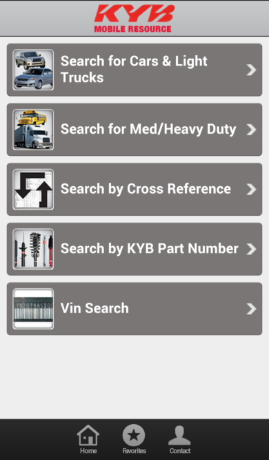 Get KYB shock, strut info with new mobile app