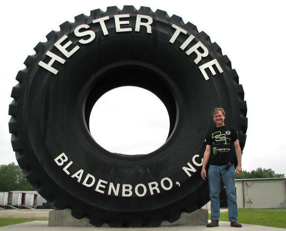 Giant tire gives dealer bragging rights