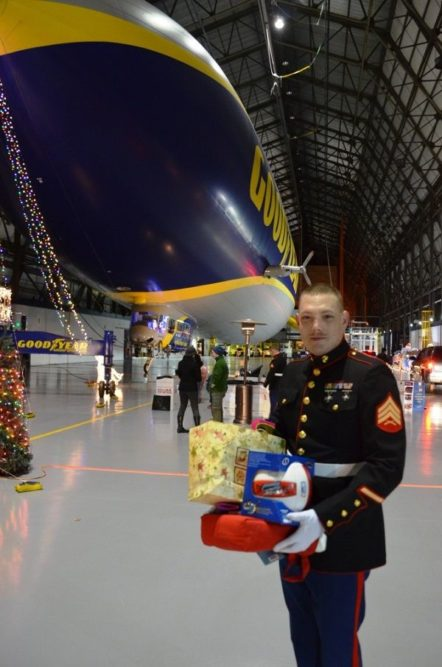 Goodyear and the marines collect toys for tots