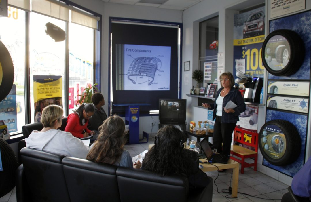 Goodyear Mars Tire holds Women's Car Care Clinic