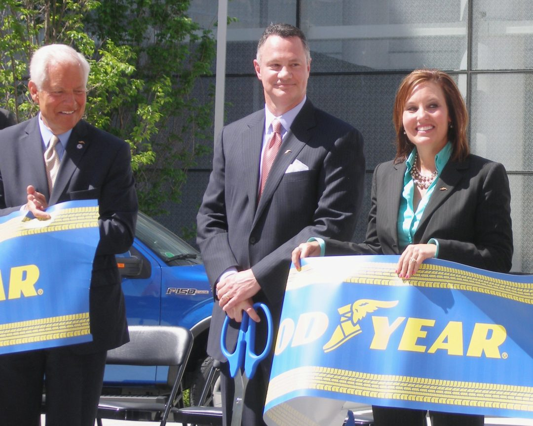 Goodyear moves into a new home in Akron