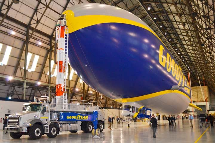 Goodyear unveils blimp with no name!