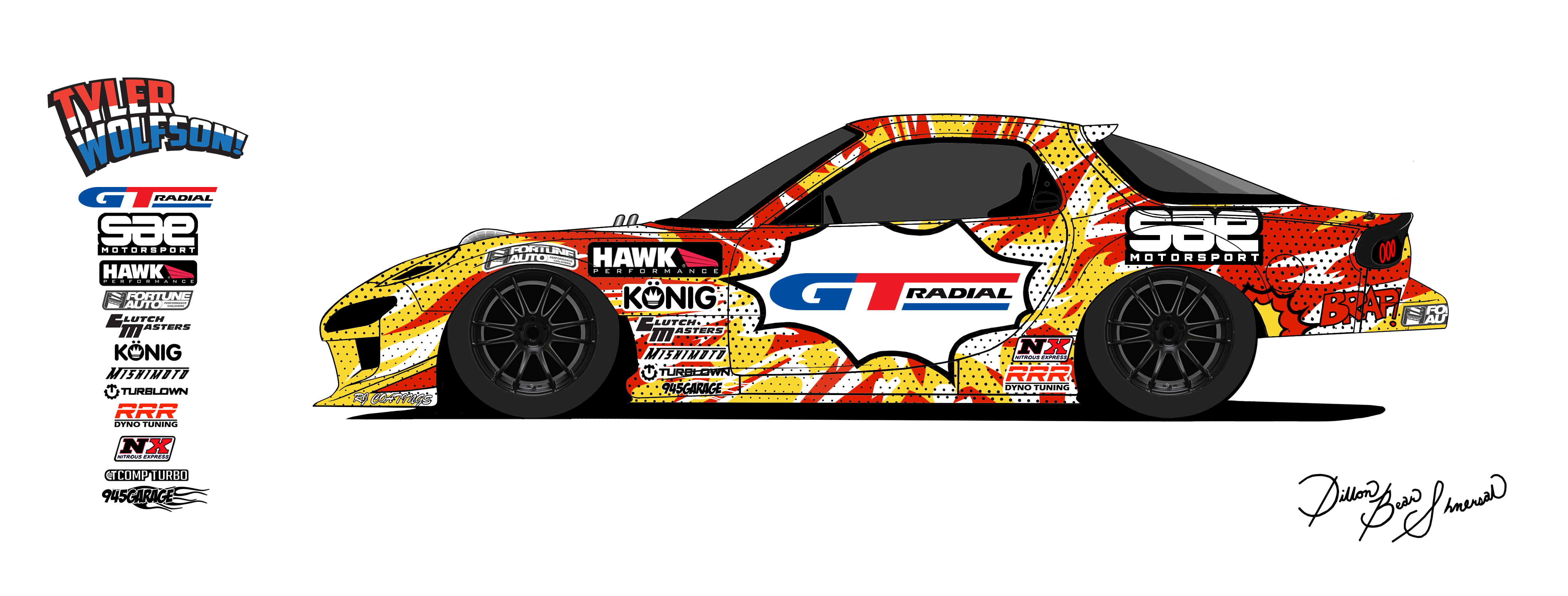 GT Radial is official supplier of Formula Drift